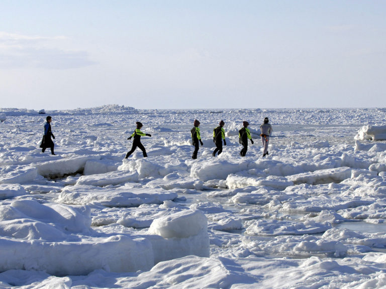 Drift ice walk
