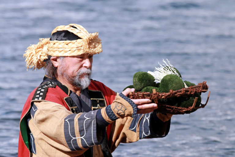Ainu people and Marimo moss ball