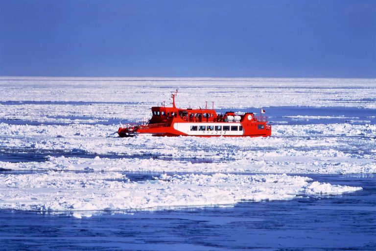 Cruise through eastern Hokkaido's iconic drift ice