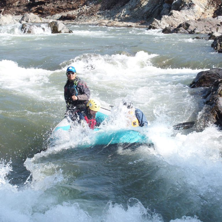 Splash rafting