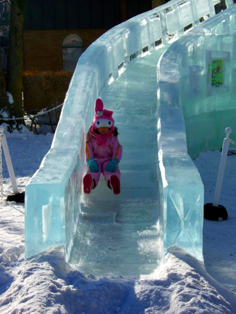 Child enjoying ice